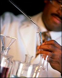 Scientist in the lab, Eyewire/BBC