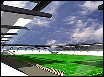 Impression of Boston United's new ground