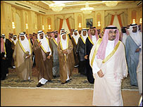 Tribal leaders and members of the Saudi Royal Family