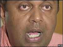 Sri Lankan Media Minister Mangala Samaraweera
