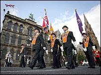 Parade begins in Carlisle Circus