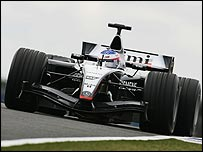 The new McLaren-Mercedes MP4-19B, on which technical director Adrian Newey led the design