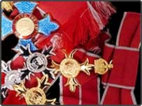 CBE, MBE and OBE medals