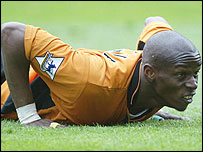 Wolves striker Henri Camara