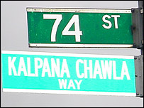 Kalpana Chawla street sign