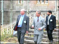 Prince Charles at the former hospital