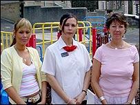 Sam Morgan, Lesley Morgan and Carol Jenkins