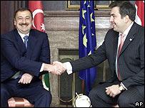 Ильхам Алиев и Михаил Саакашвили