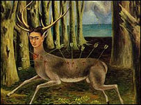 El peque�o ciervo, Frida Kahlo, 1946