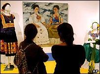 Obras en la Casa Museo de Frida Kahlo