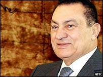 Egyptian President Hosni Mubarak