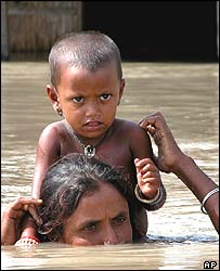 Mother and child near Guwahati, Assam