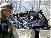 Escena de la explosión en Bagdad