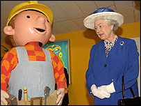 Bob the Builder with the Queen