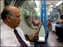 Professor Deepak Prasher taking readings on the Tube