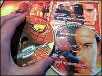 Pirated Spider-Man 2 discs