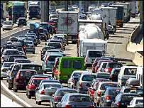 Traffic jam, France   AP