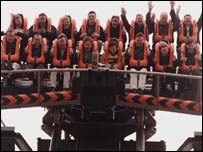 Oblivion ride at Alton Towers