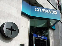 A branch of Citibank, part of Citigroup