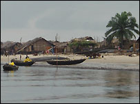Fishing boats in Bakassi