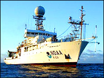 NOAA ship, courtesy of Richard A. Feely