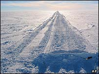 Ice road in Antarctica   AP
