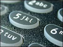 Mobile phone key pad