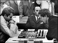 Борис Спасский и Бобби Фишер в 1970 году