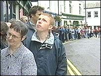 People queuing for an NHS dentist in Scarborough