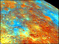 Mercury surface, Nasa