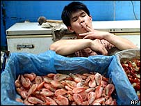 Beijing shrimp merchant