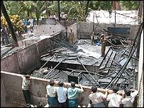Scene of the school fire