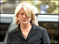 Martha Stewart  arrives for sentencing at Manhattan federal court, in New York Friday July 16, 2004