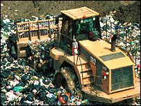 Waste landfill site