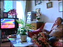 Maurice Ofstein and his television