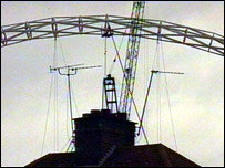 The Wembley arch and television aerials