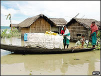 Villagers in flood-hit Assam