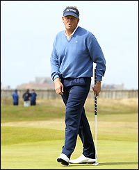 Colin Montgomerie in action at Troon