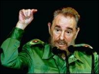 Fidel castro, presidente de Cuba.
