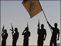 Al-Aqsa Martyrs Brigades fighters in Gaza
