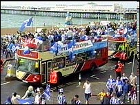Brighton and Hove Albion's victory parade