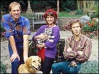 Blue Peter team in 1983