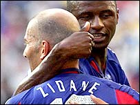 Zidane and Vieira are international team-mates for France