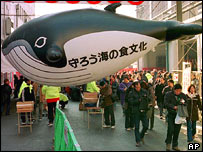 Demonstration in support of Japan's whaling culture, AP