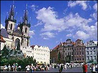 Prague's historic centre