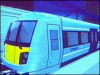 Computer image of Crossrail train