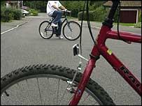 Boys cycling