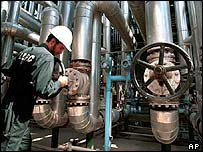 Iranian oil worker
