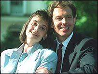 Tony and Cherie Blair on his leadership election day in 1994