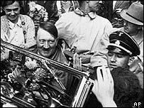 Hitler among supporters in 1934